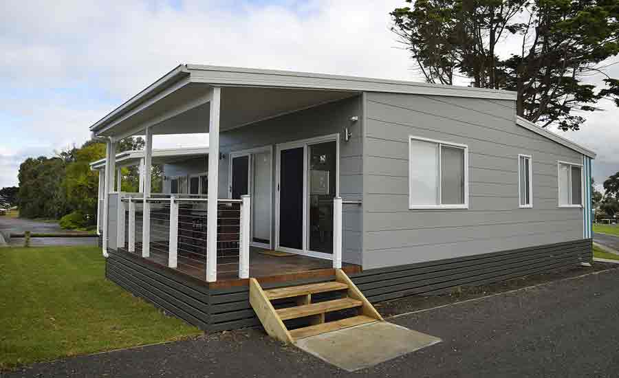 modern cabin accommodation caravan park