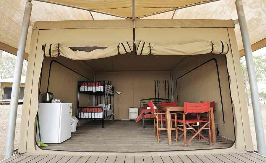 basic safari tent caravan park accommodation