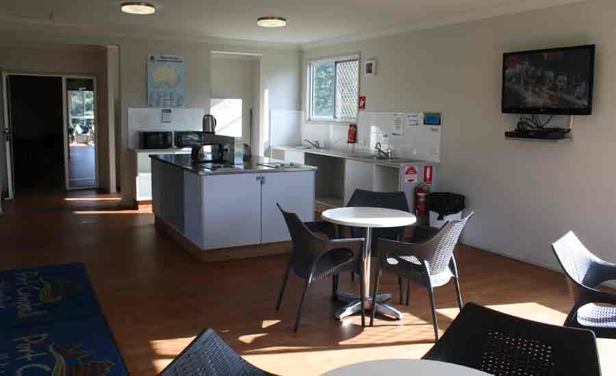 modern camp kitchen caravan park facilities