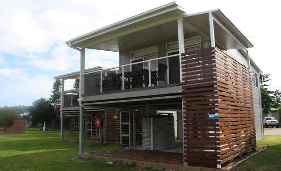 modern cabin two storey caravan park