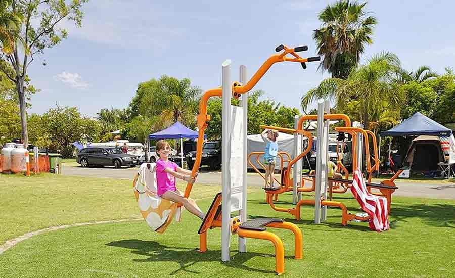 outdoor gym caravan park facility