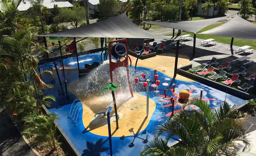 splash pad caravan park facility