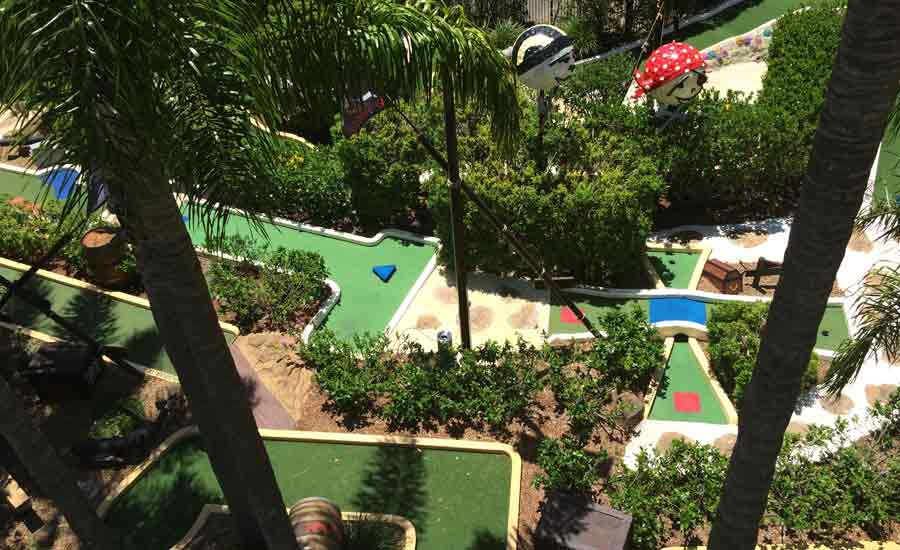 themed mini golf caravan park facility
