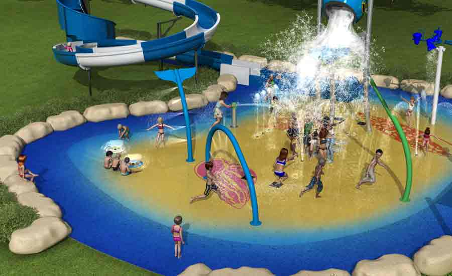 waterpark and slide design caravan park facilities