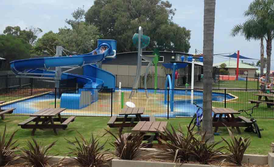 waterslide and splash pad tourist park facility