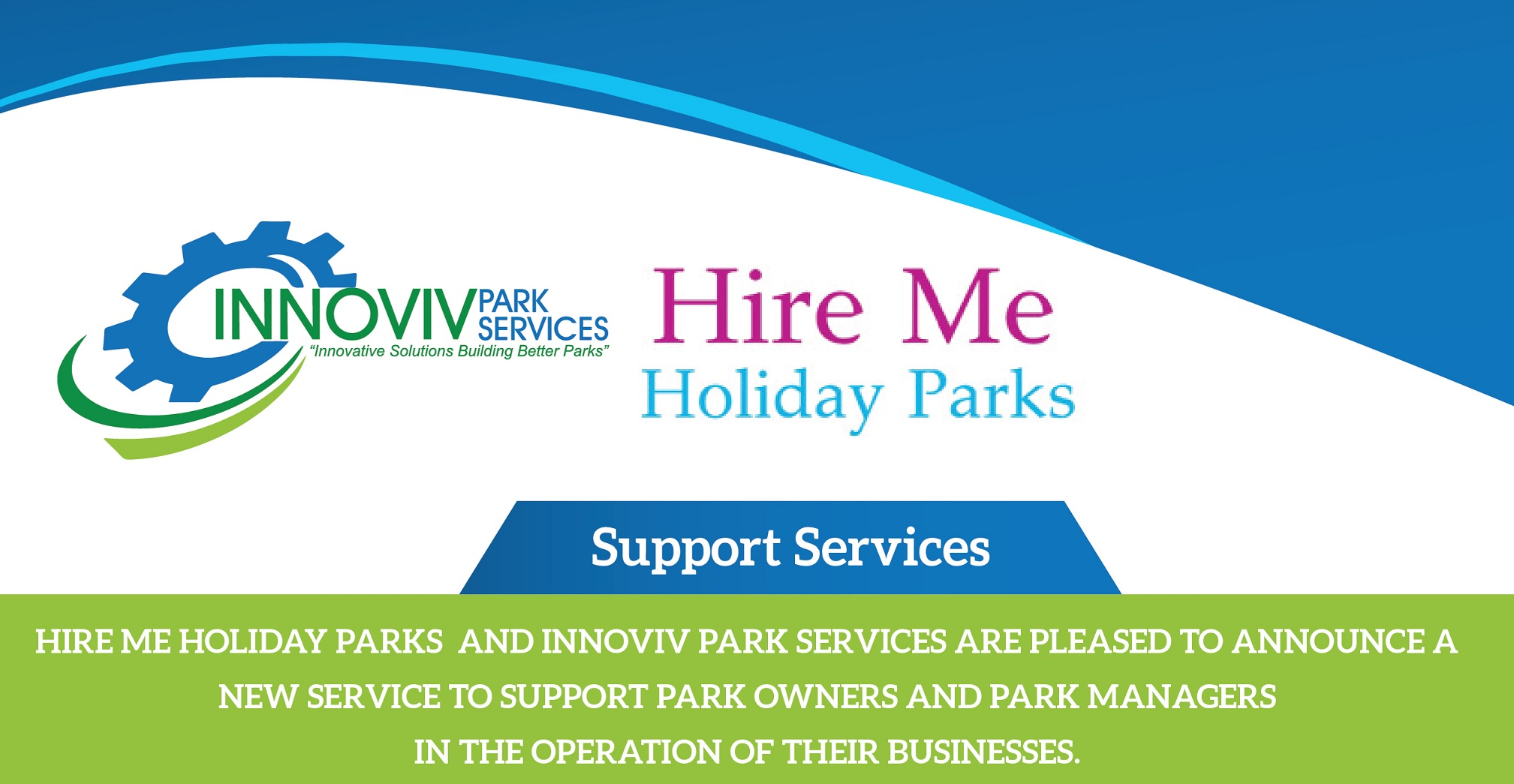 caravan park managers support innoviv and hire me holiday parks